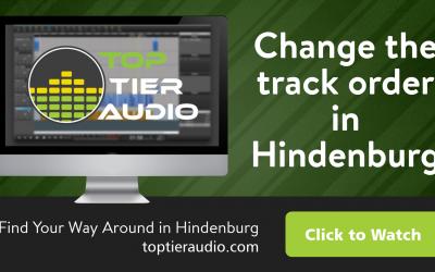 Hindenburg User Tutorial: How to Change Track Order in Hindenburg Journalist